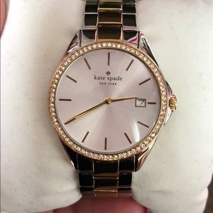Kate spade seaport grand two tone watch